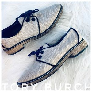 TORY BURCH lace up oxfords